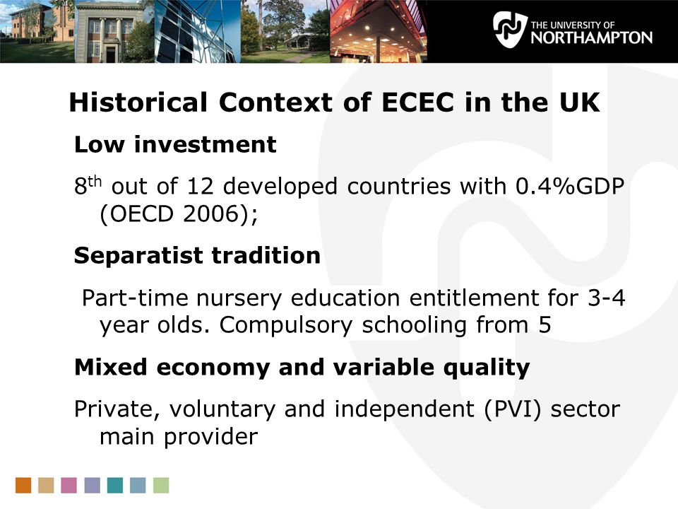 Historical Context of ECEC in the UK