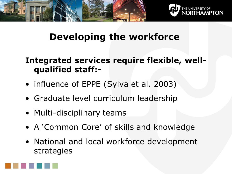 Developing the workforce