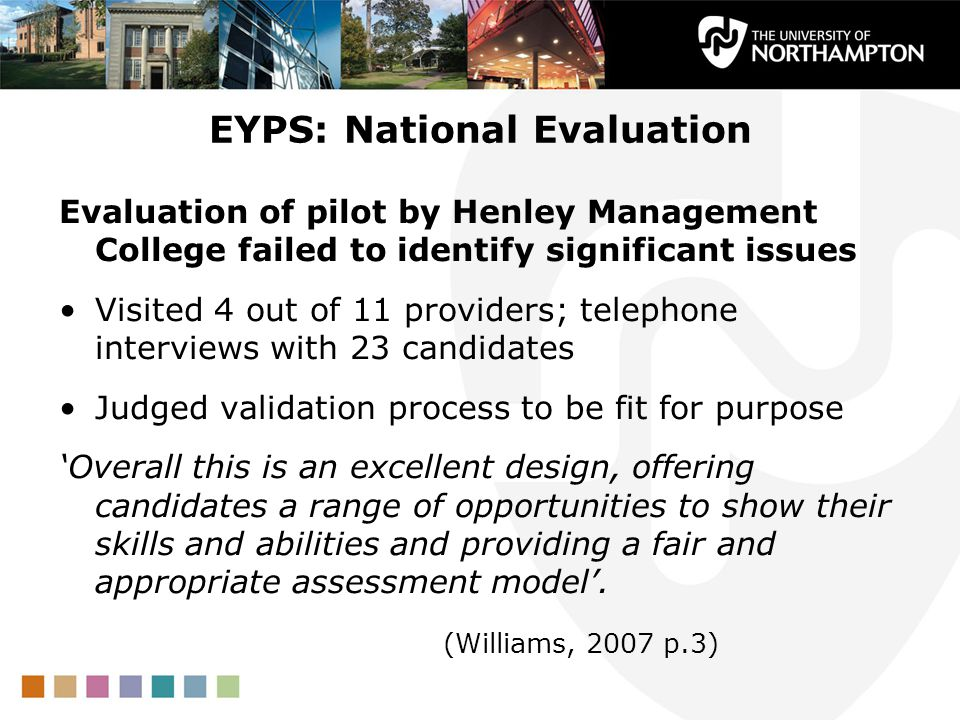 EYPS: National Evaluation