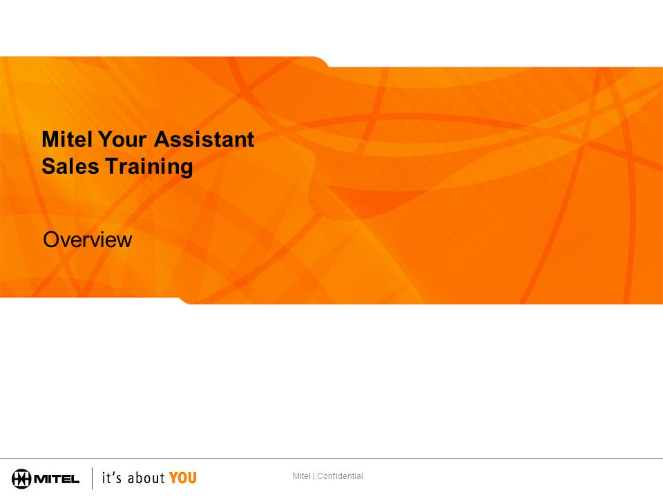Mitel Your Assistant Sales Training