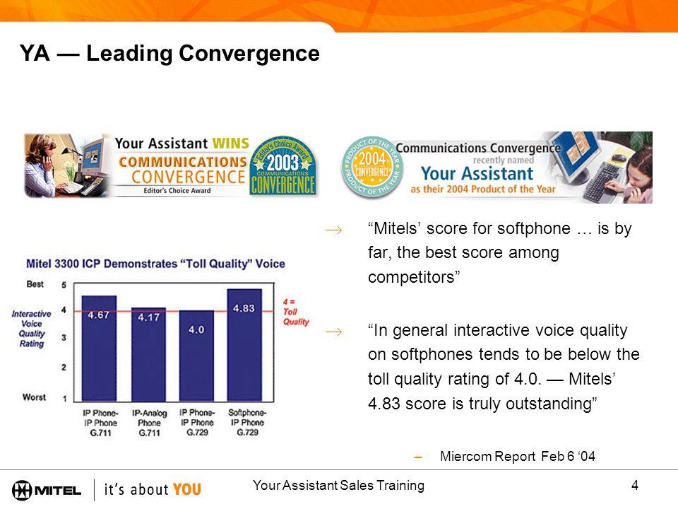 YA — Leading Convergence