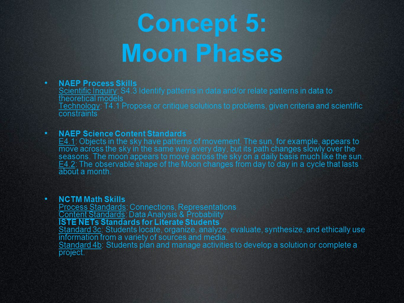 Concept 5: Moon Phases