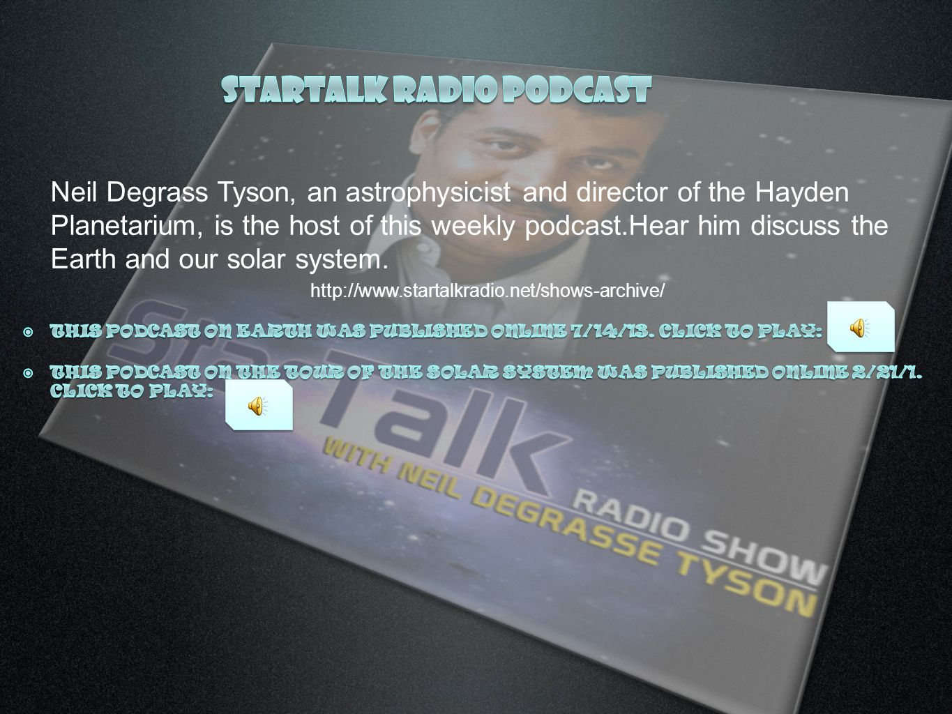 Startalk radio podcast