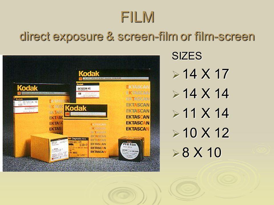 FILM direct exposure & screen-film or film-screen