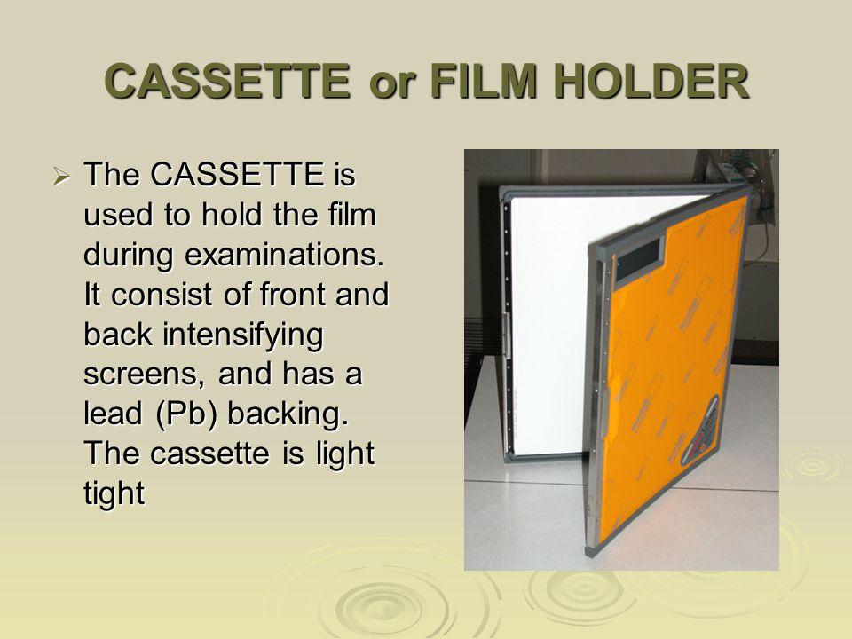 CASSETTE or FILM HOLDER