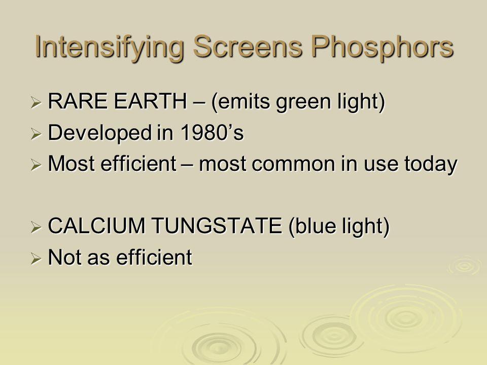 Intensifying Screens Phosphors