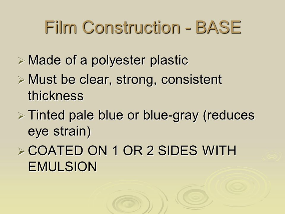 Film Construction - BASE