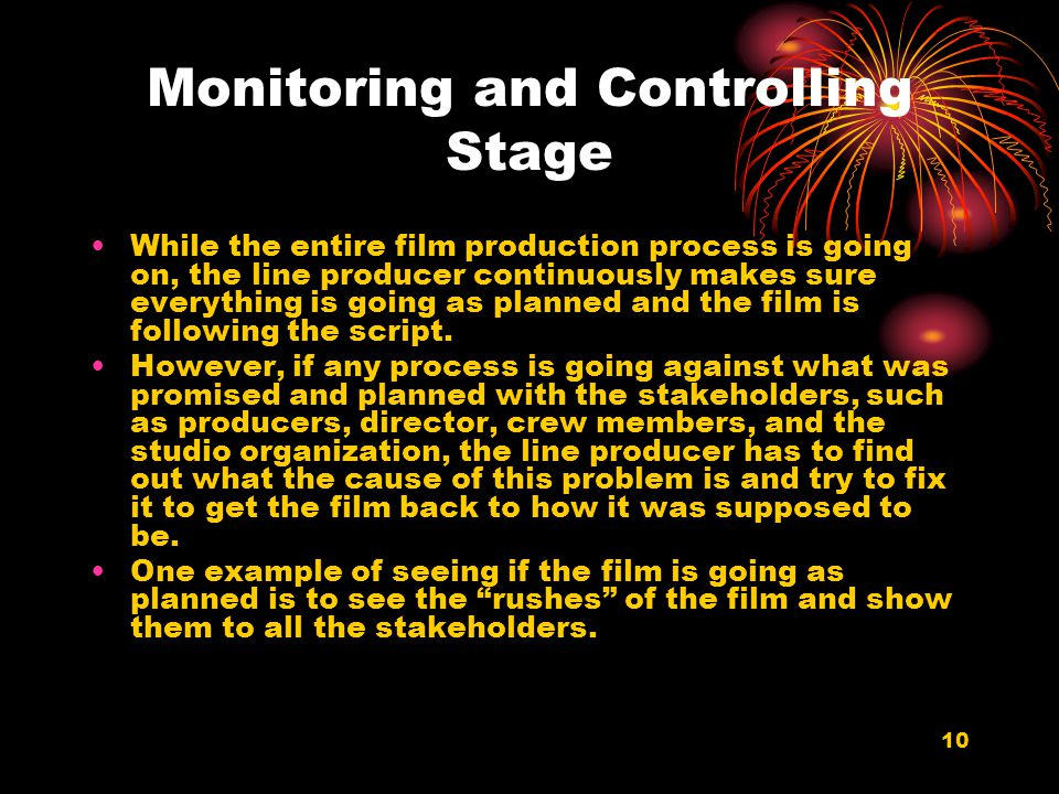 Monitoring and Controlling Stage