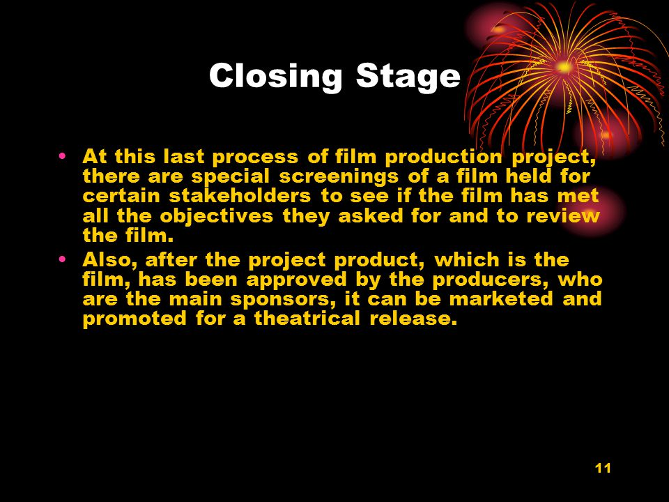 Closing Stage