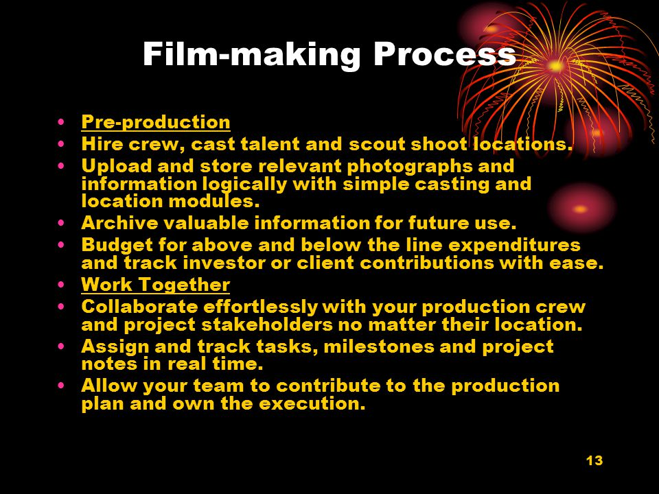 Film-making Process Pre-production