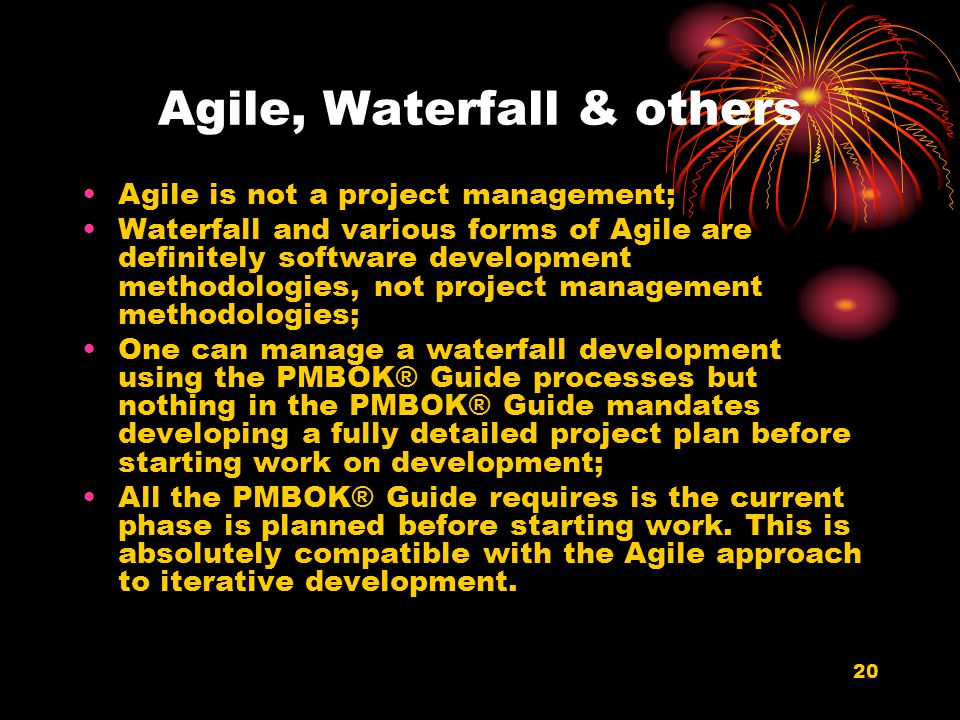 Agile, Waterfall & others