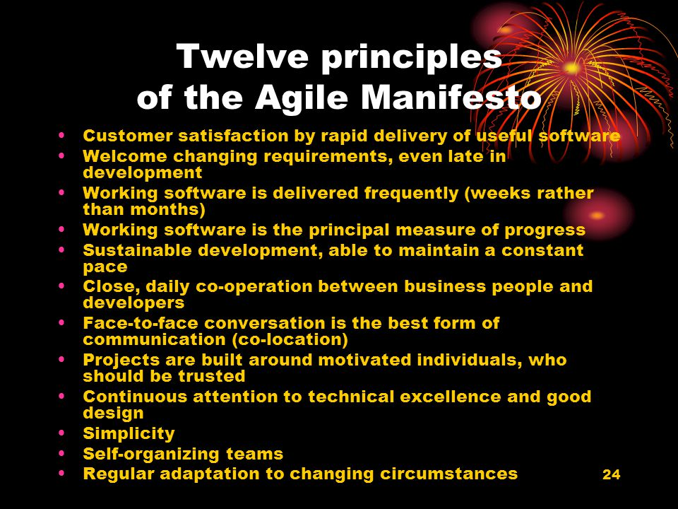Twelve principles of the Agile Manifesto