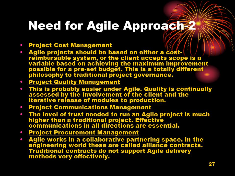 Need for Agile Approach-2
