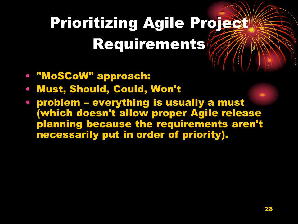 Prioritizing Agile Project Requirements