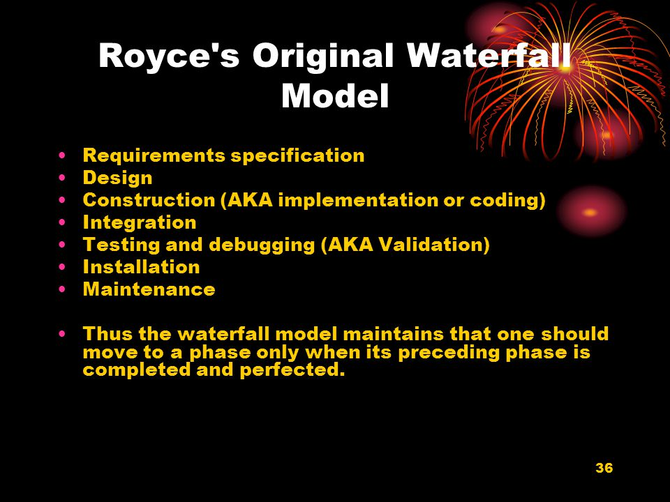 Royce s Original Waterfall Model