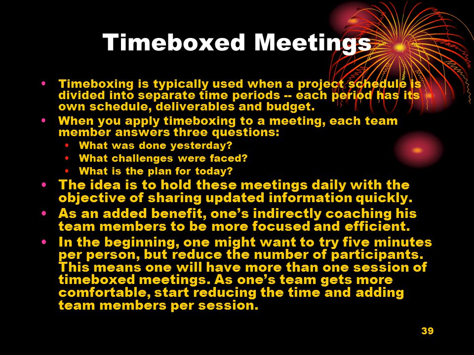 Timeboxed Meetings