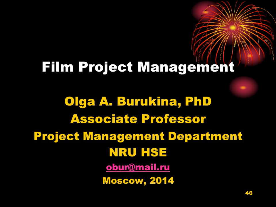 Film Project Management