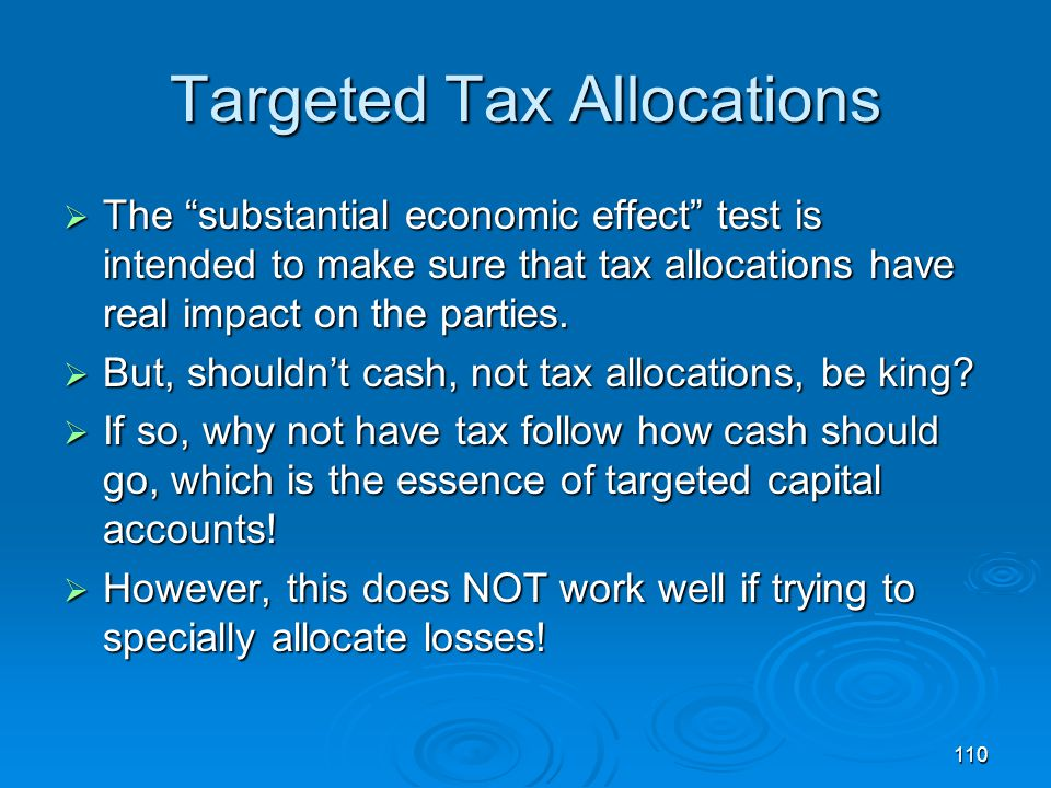 Targeted Tax Allocations
