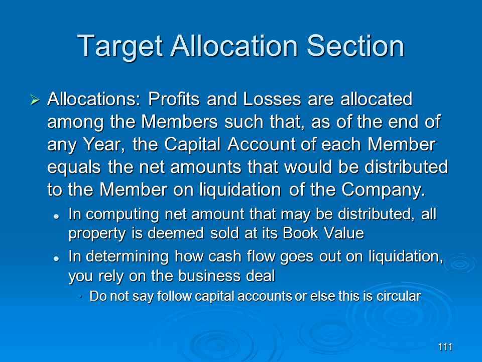 Target Allocation Section