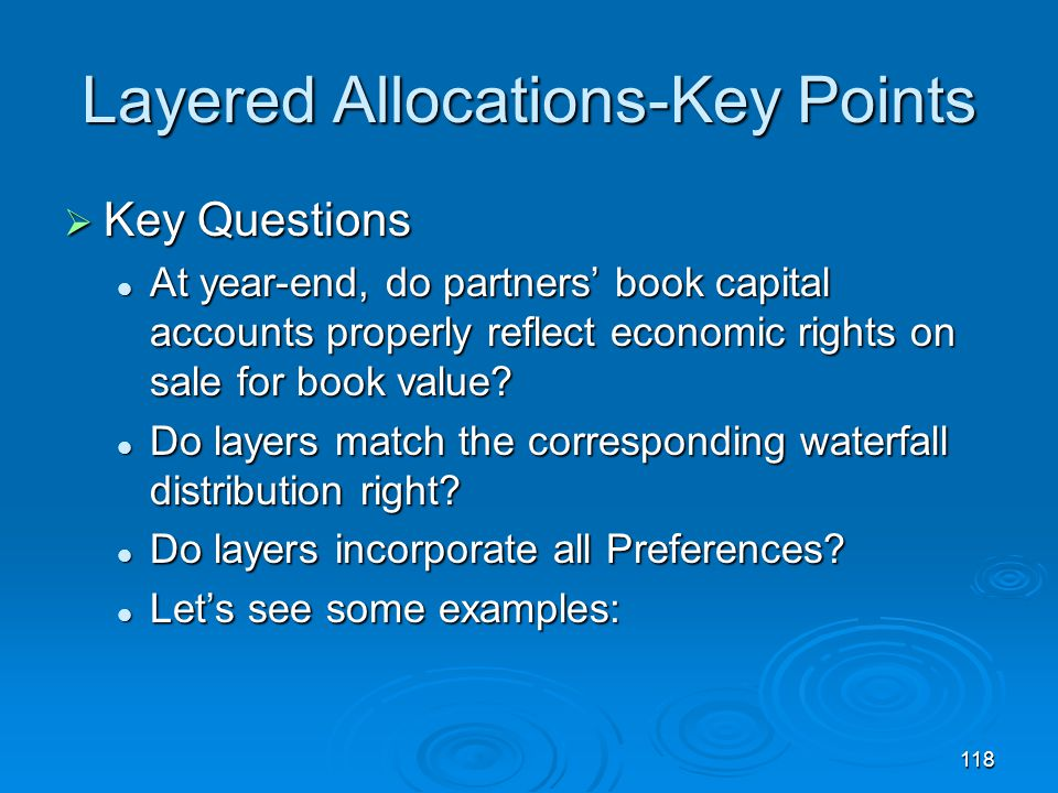 Layered Allocations-Key Points