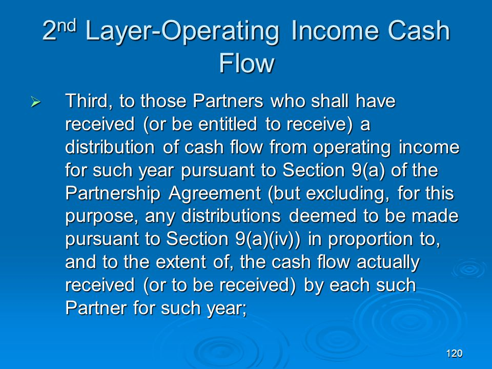 2nd Layer-Operating Income Cash Flow