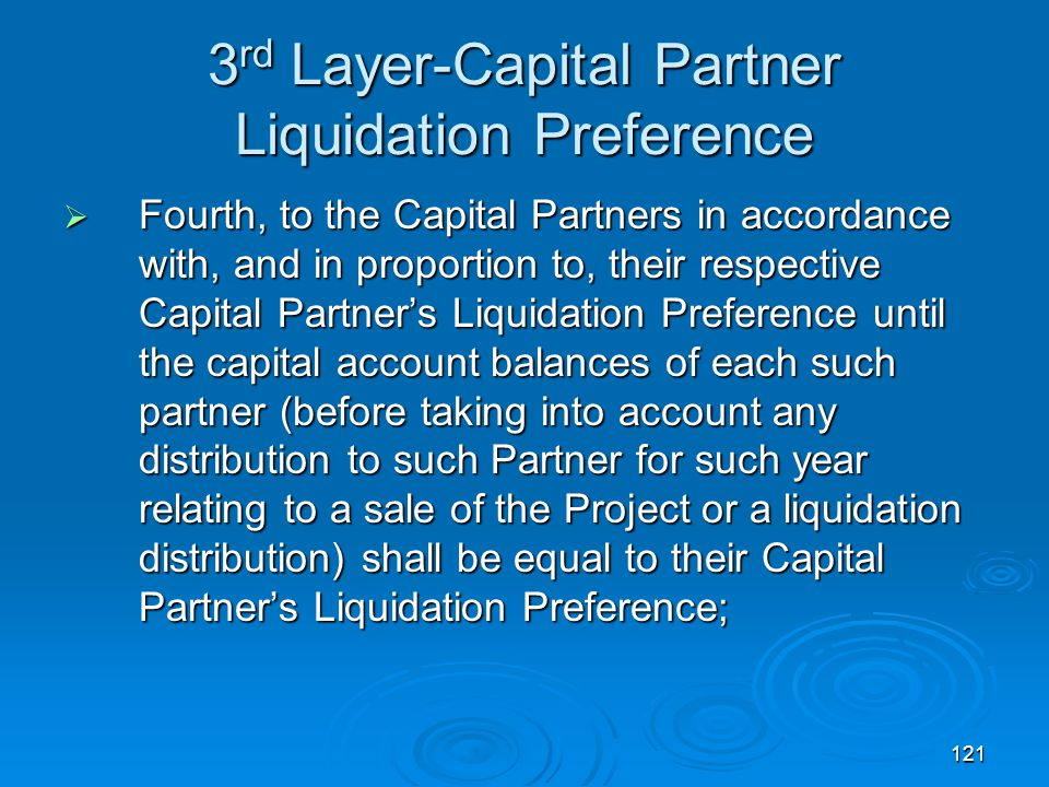 3rd Layer-Capital Partner Liquidation Preference