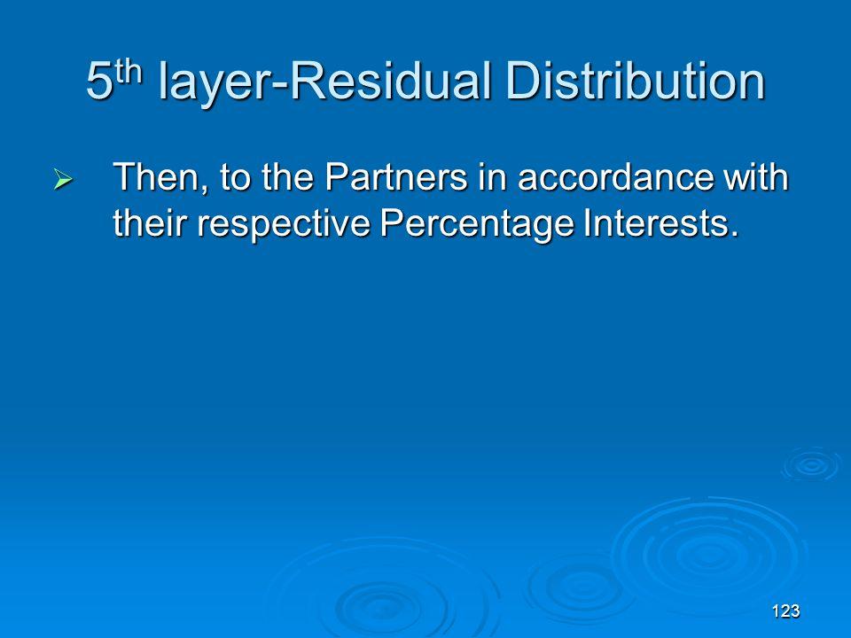 5th layer-Residual Distribution