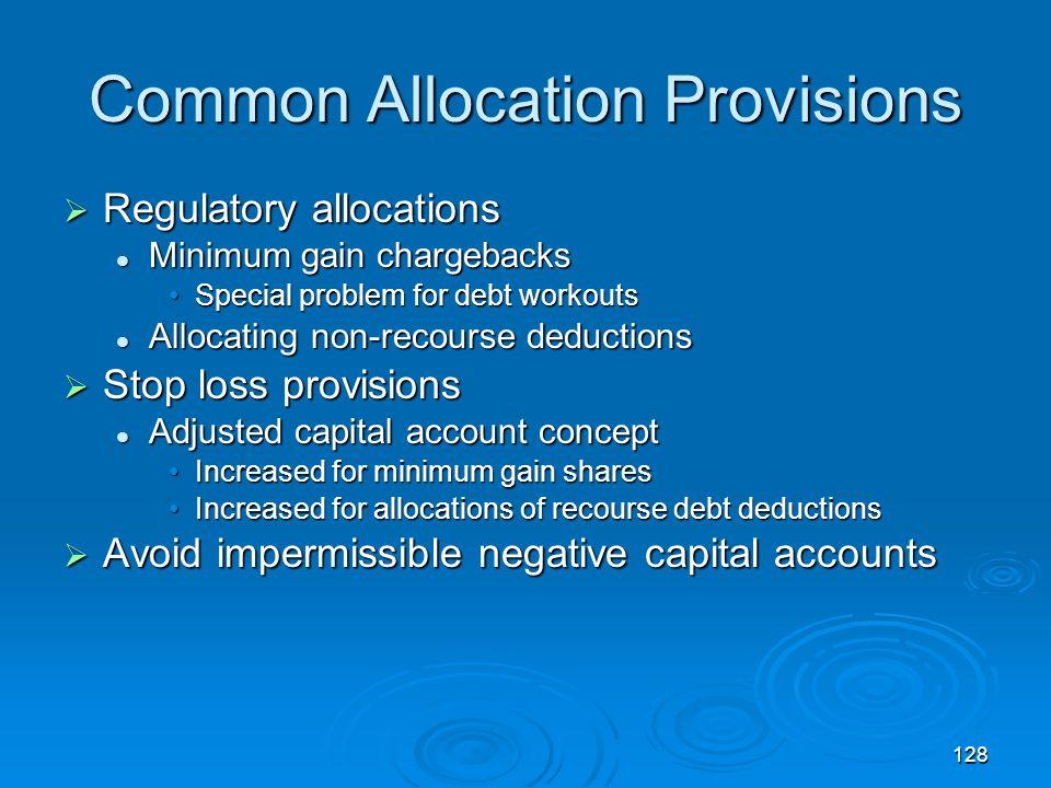 Common Allocation Provisions