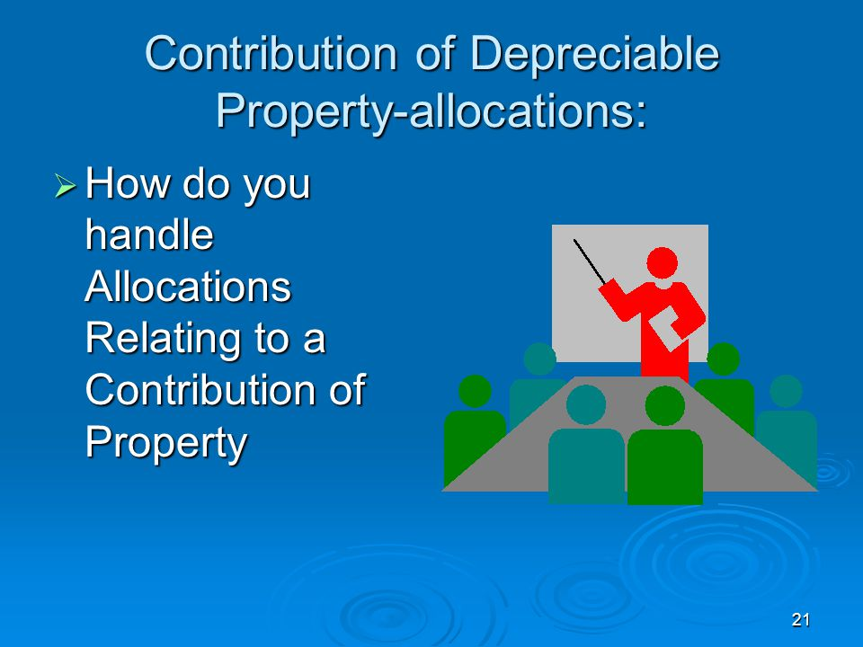 Contribution of Depreciable Property-allocations: