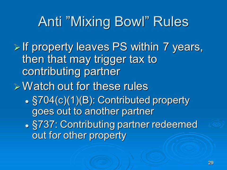 Anti Mixing Bowl Rules