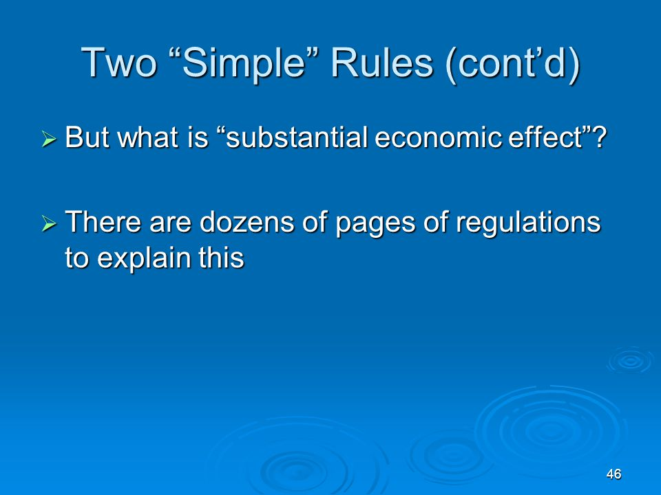 Two Simple Rules (cont'd)