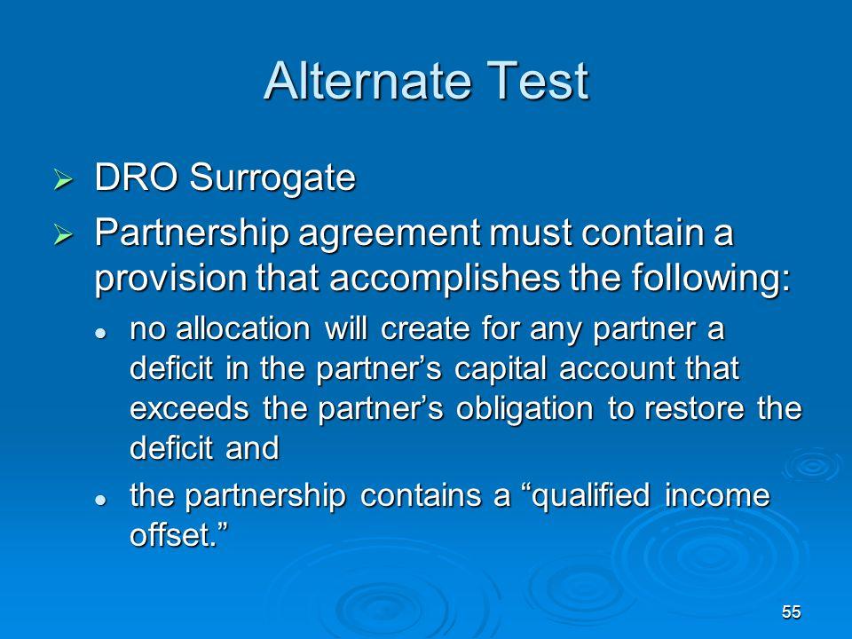 Alternate Test DRO Surrogate
