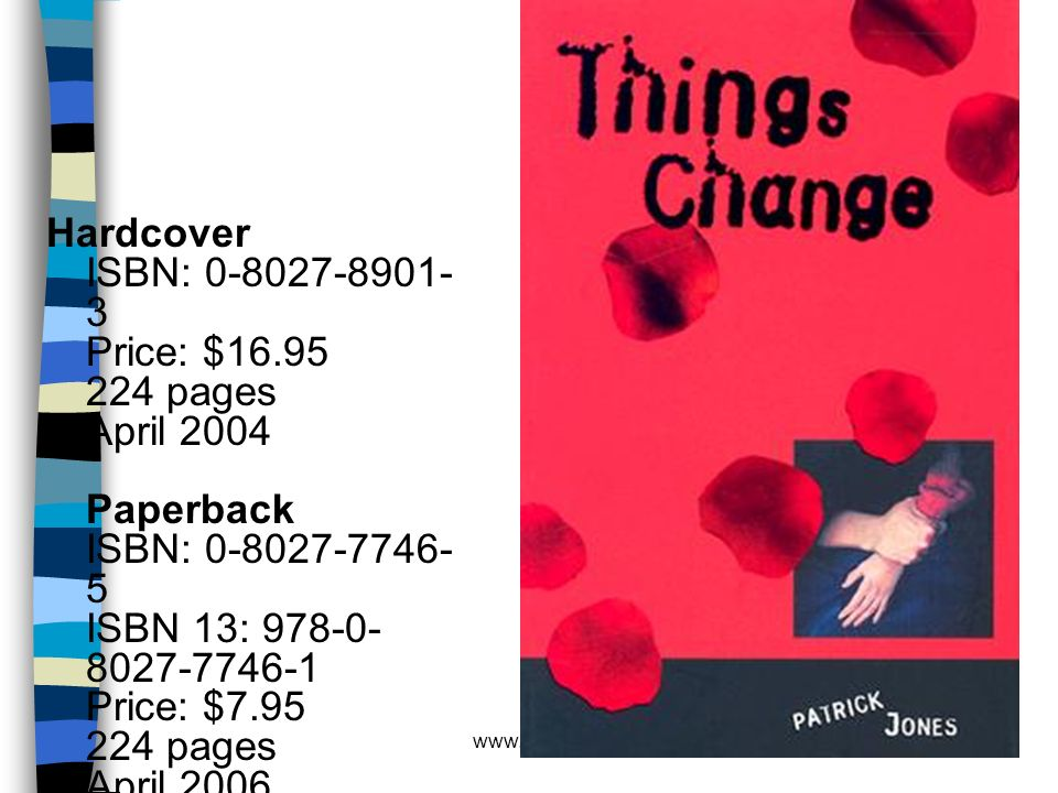 Hardcover ISBN: 0-8027-8901-3 Price: $16