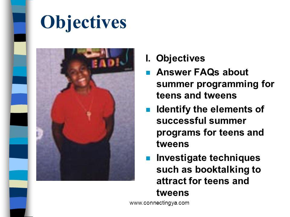 Objectives I. Objectives