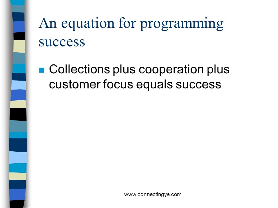 An equation for programming success