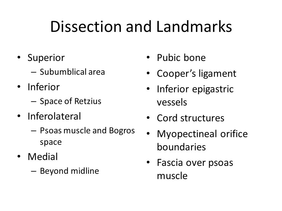 Dissection and Landmarks