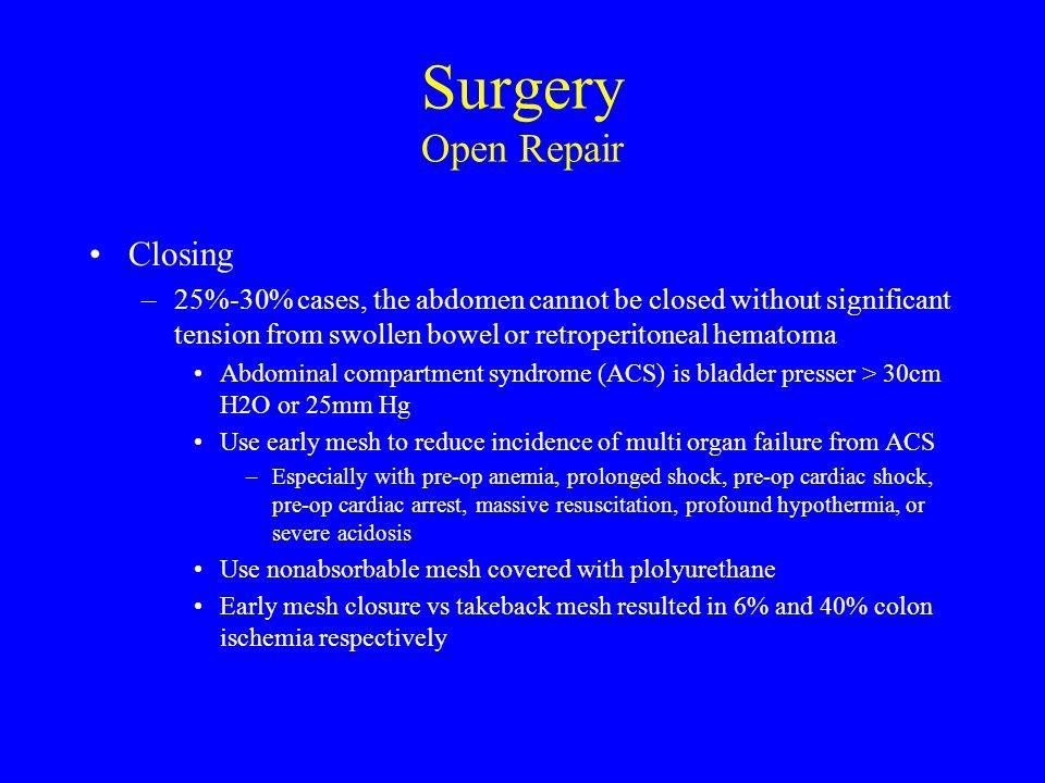 Surgery Open Repair Closing