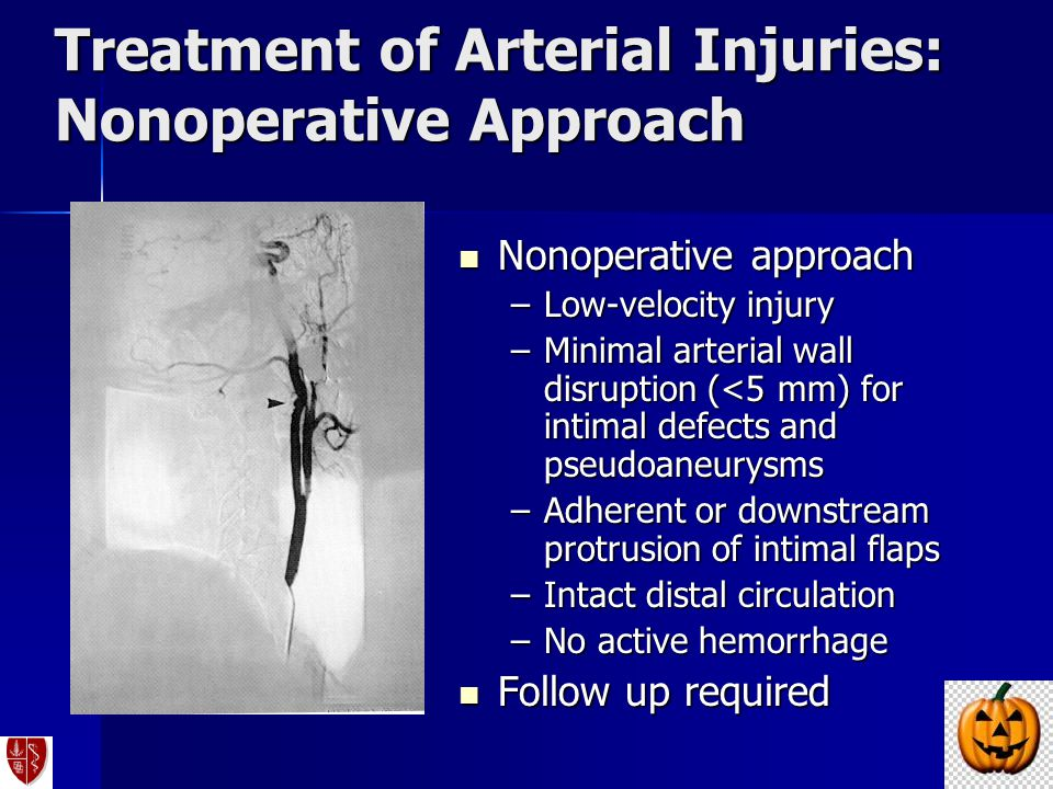 Treatment of Arterial Injuries: Nonoperative Approach