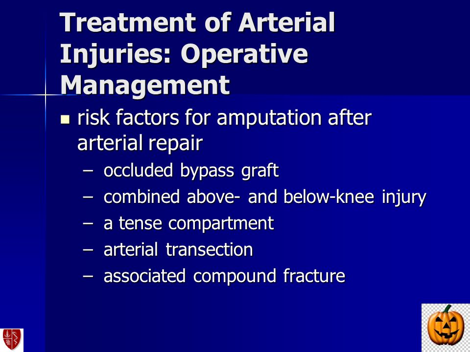 Treatment of Arterial Injuries: Operative Management