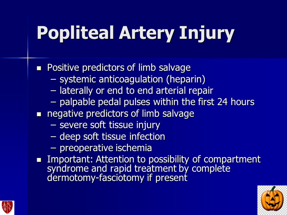 Popliteal Artery Injury