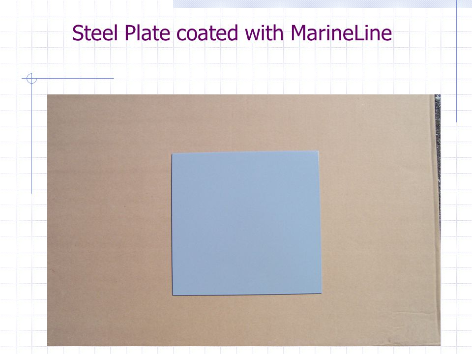 Steel Plate coated with MarineLine
