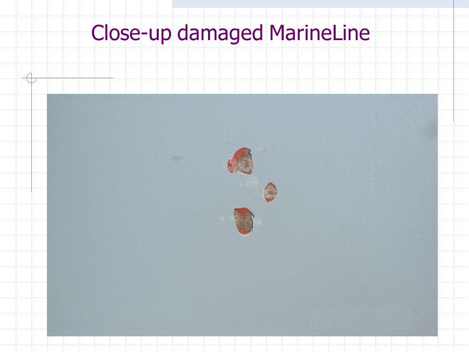 Close-up damaged MarineLine
