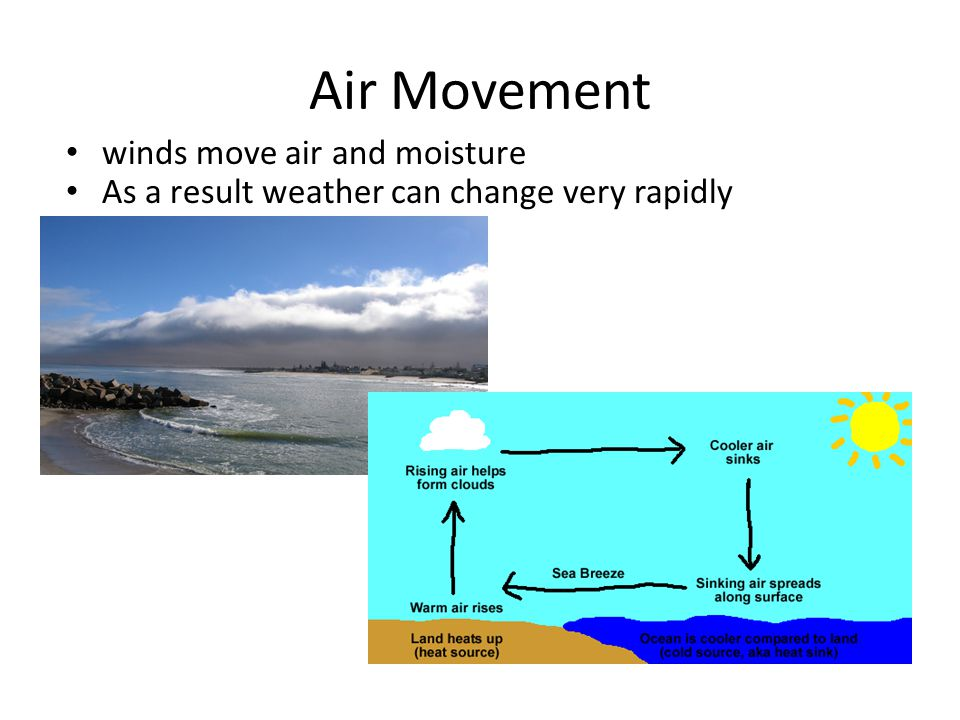 Air Movement winds move air and moisture