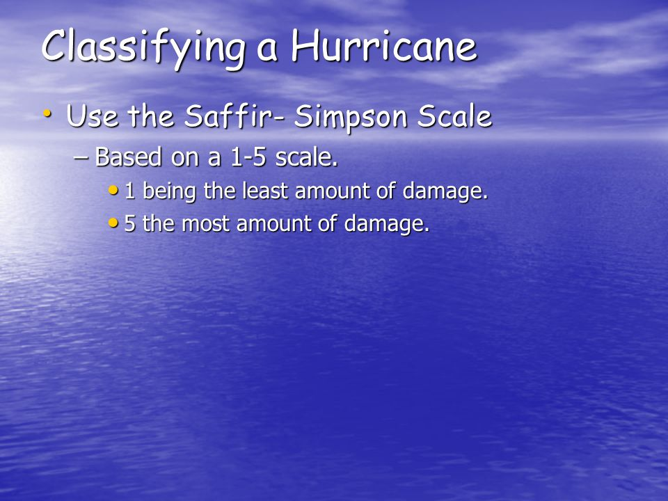 Classifying a Hurricane
