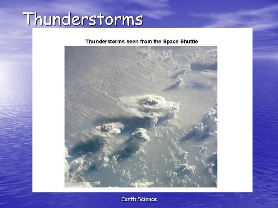 Thunderstorms Earth Science