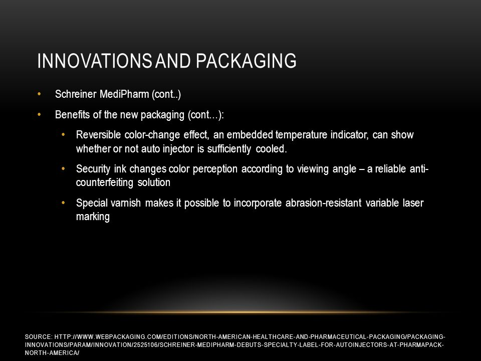 Innovations and packaging