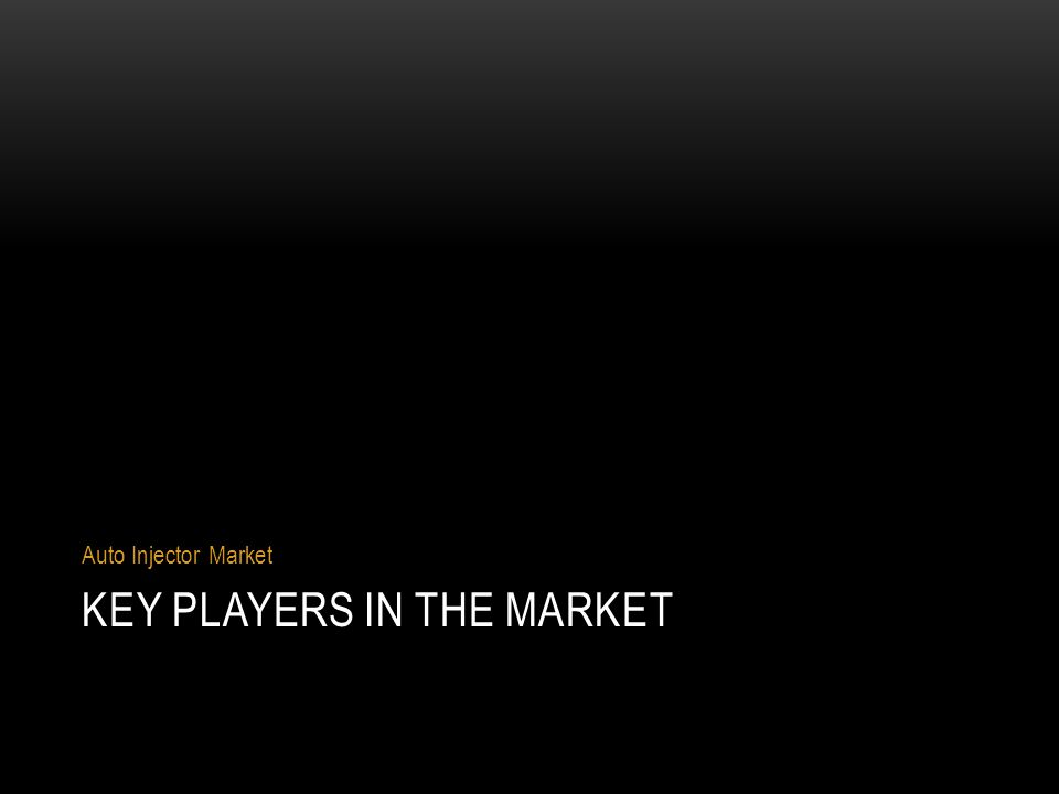 Key players in the market