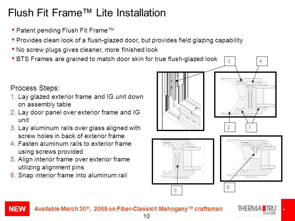 Flush Fit Frame™ Lite Installation