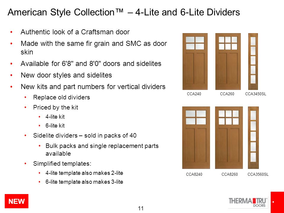 American Style Collection™ – 4-Lite and 6-Lite Dividers