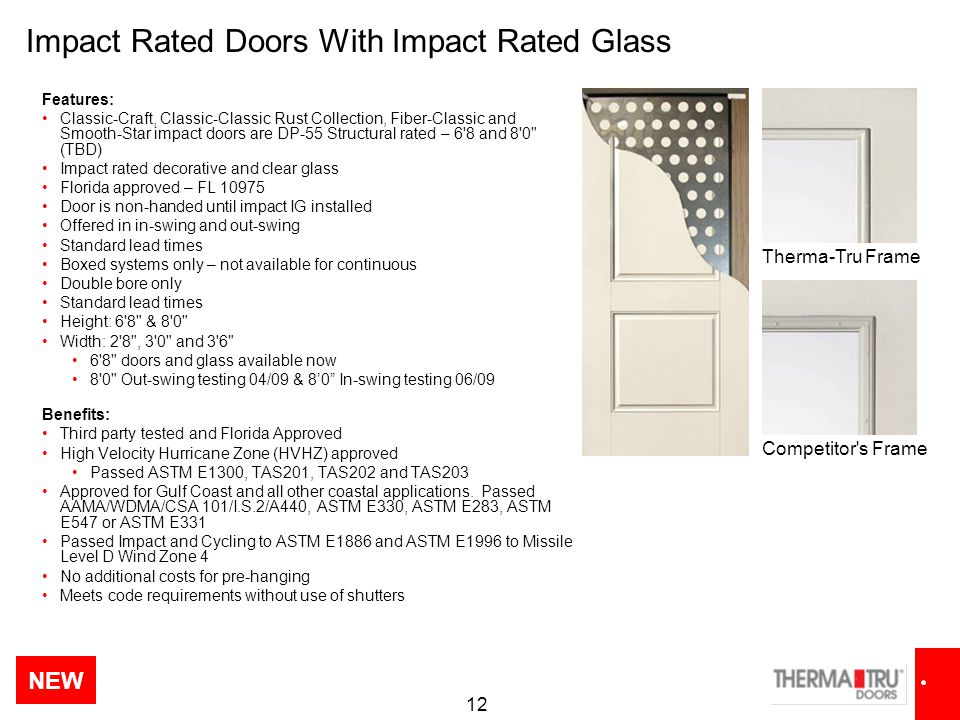 Impact Rated Doors With Impact Rated Glass